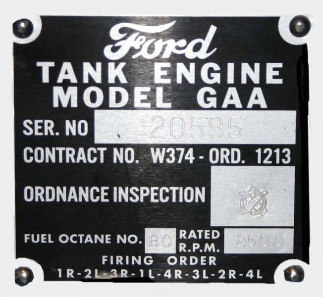 Ford GAA Engine